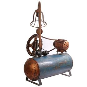 Artistic Old Industrial Compressor Iron Lamp
