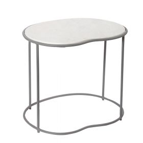 Apple Shaped Marble Top Side Table
